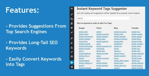 Instant Keyword Tags Suggester WordPress Plugin