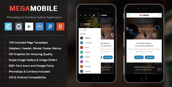 MegaMobile | PhoneGap & Cordova Mobile App