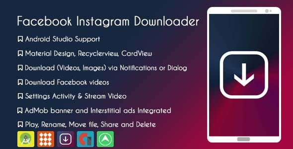 Facebook Instagram Downloader  - AdMob & GDPR
