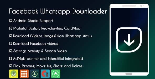 Facebook Whatsapp Status Downloader  - AdMob & GDPR