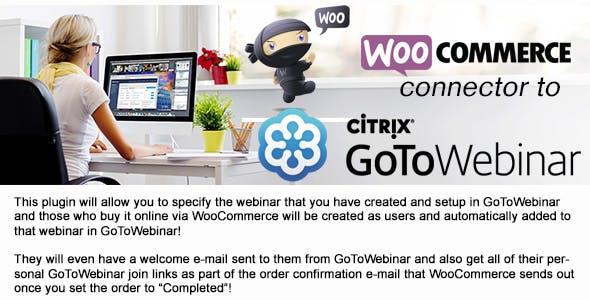WooCommerce to GoToWebinar connector 1