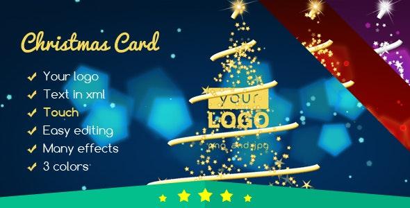 Christmas Card Elegant Lights 2 - CodeCanyon Item for Sale