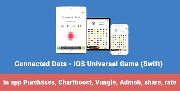 Connected Dots - iOS Universal Game (Swift)