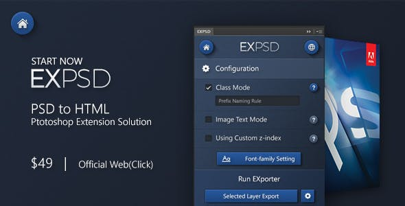 EXPSD, PSD to HTML Converter. Pixel Perfect and functional HTML, Innovative PSD 2 HTML