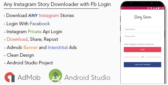 Premium ANY Instagram Story Downloader with FACEBOOK Login