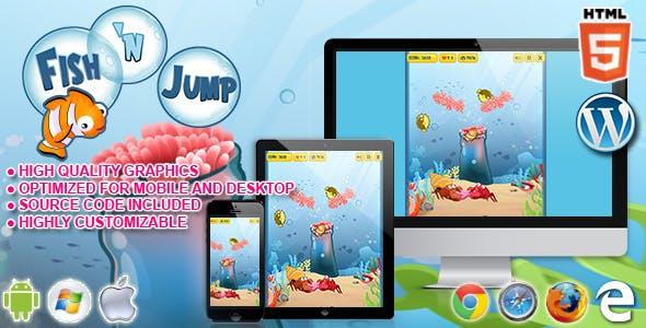 HTML5 Game - Fish 'n Jump