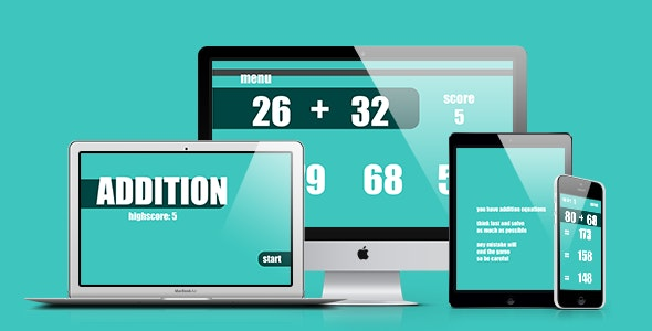 Math Game: Addition - CodeCanyon Item for Sale