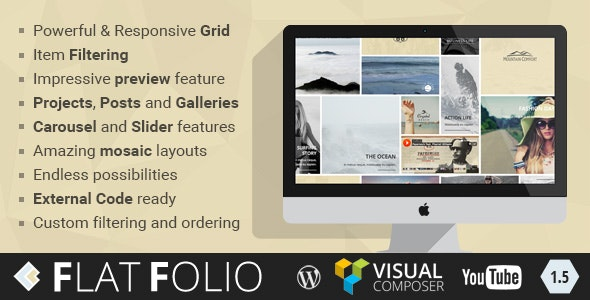 FlatFolio - Flat & Cool WP Portfolio for Visual Composer - CodeCanyon Item for Sale