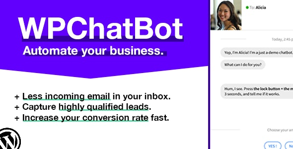 WP Chatbot - Wordpress Chatbot Builder by StephanePtn | CodeCanyon