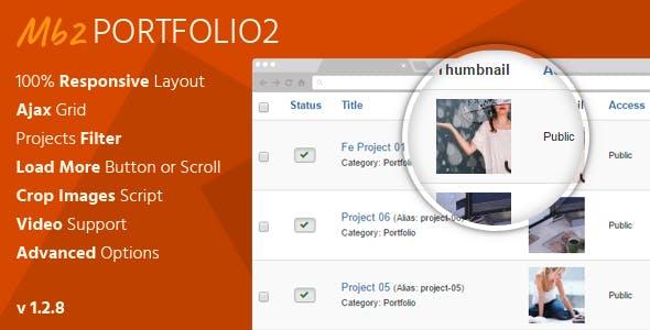 Mb2 Portfolio2 - Joomla Portfolio Extension