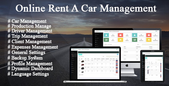 Online Car Rental / Trip Management System - CodeCanyon Item for Sale