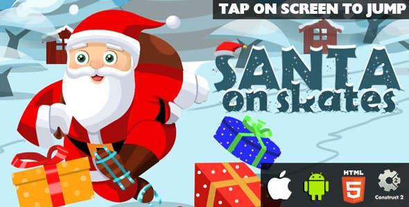 Santa On Skates - HTML5 Game (CAPX)