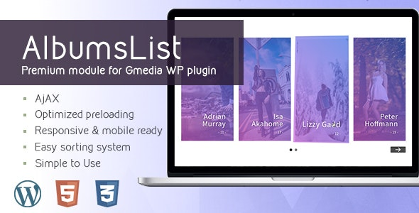 AlbumsList v3.2 | Gallery Module for Gmedia plugin - CodeCanyon Item for Sale