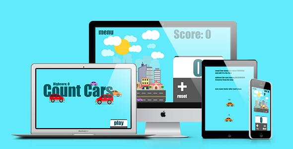 Math Game: Count Cars