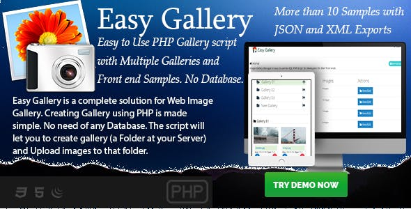Easy Gallery - PHP based No-Database Gallery Creator