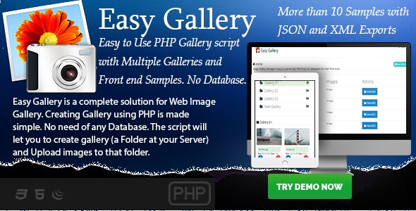 Easy Gallery - PHP based No-Database Gallery Creator - CodeCanyon Item for Sale
