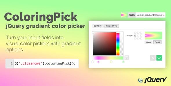 ColoringPick – jQuery Gradient Color Picker - CodeCanyon Item for Sale