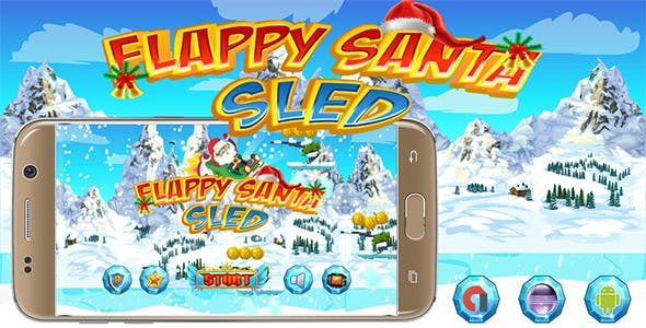 Flappy Santa Sled With Admob Banner & Interstitial - Eclipse Project