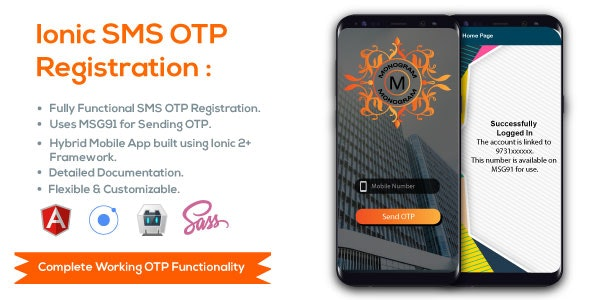 Ionic SMS OTP Verification by Praneta | CodeCanyon