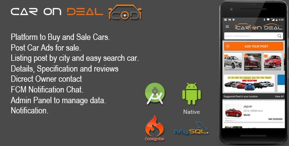 CAR ON DEAL - Buy And Sale Car Android App by ShreehariWeb