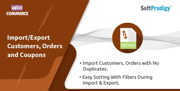 Import/Export Customers, Orders and Coupons in WooCommerce - CodeCanyon Item for Sale