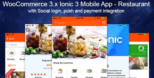 WooCommerce Mobile App Restaurant Theme