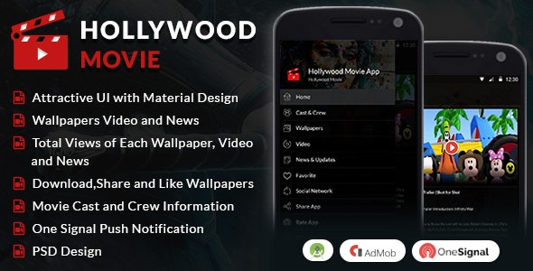 Hollywood Movie Android App - CodeCanyon Item for Sale
