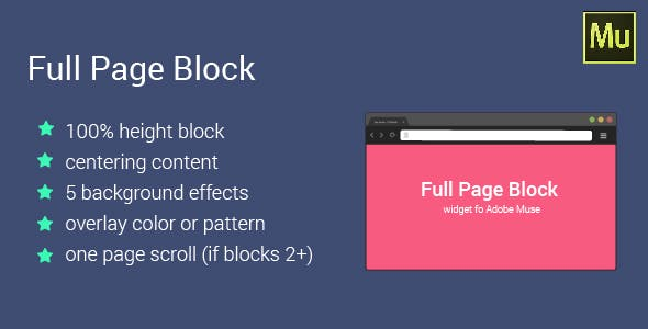 Full Page Block for Adobe Muse