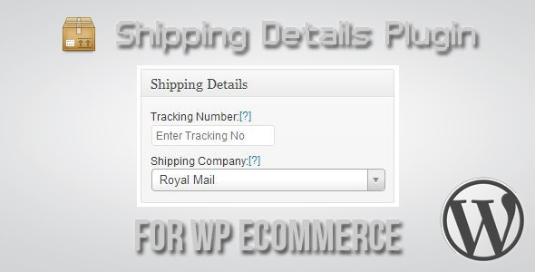 Shipping Details Plugin for WP eCommerce by RohitMane