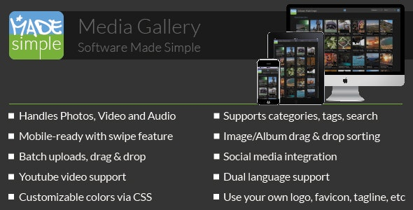 MadeSimple: Photo & Video (Media) Gallery - CodeCanyon Item for Sale