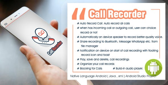 Call recorder - call logs - call blocker - Android  with Admobs
