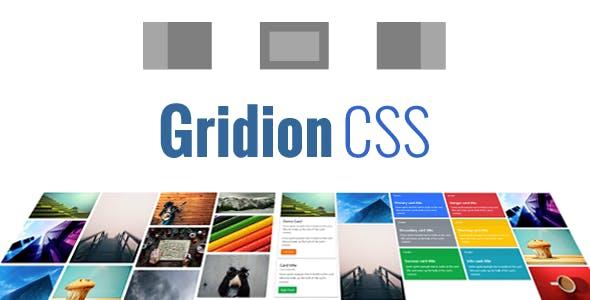 Gridion CSS - Responsive Bootstrap Portfolio Grid