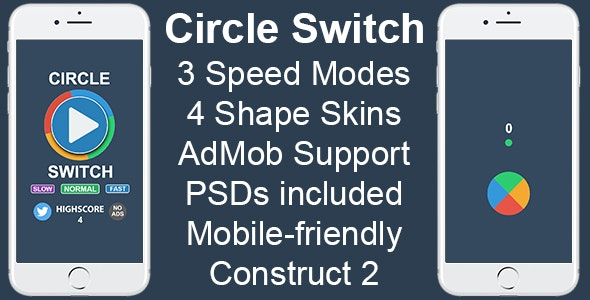Circle Switch - HTML5 Mobile Game - CodeCanyon Item for Sale