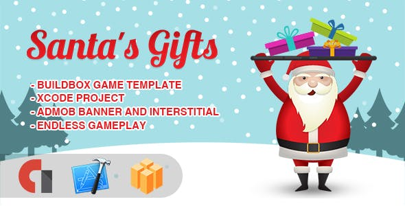 Santa's Gifts - IOS XCODE Source + Buildbox Template