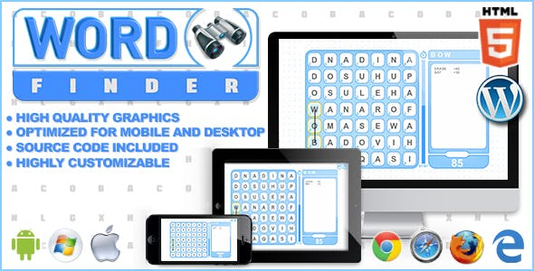 Word Finder - HTML5 Word Game