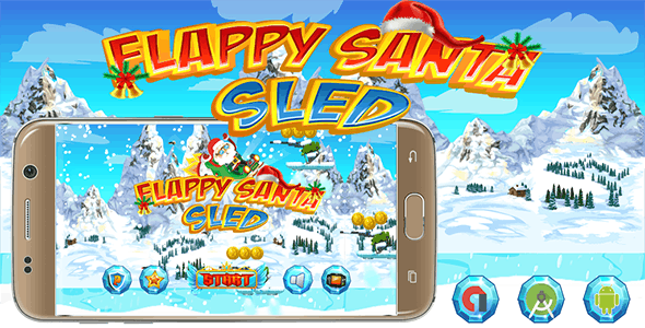 Flappy Santa Sled With Admob Banner & Interstitial - Android Studio
