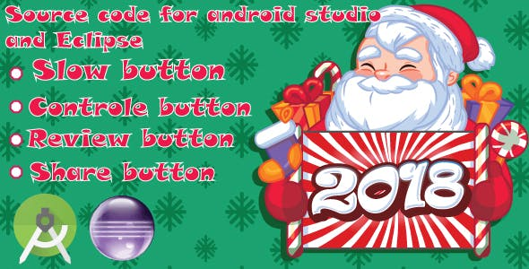 Santa Run :Android Game-slow button-control button-admob ads