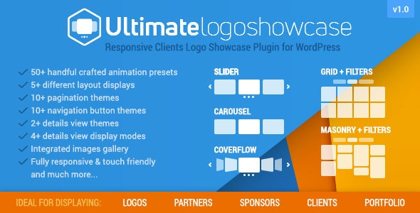 Ultimate Logo Showcase - Full Responsive Clients Logo Gallery Plugin for WordPress - CodeCanyon Item for Sale