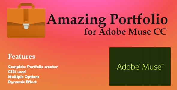 Amazing Porfolio for Adobe Muse - CodeCanyon Item for Sale
