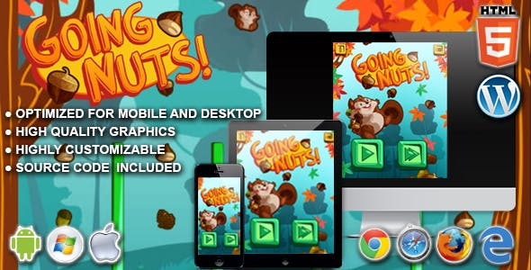 Going Nuts - HTML5 Physics Game