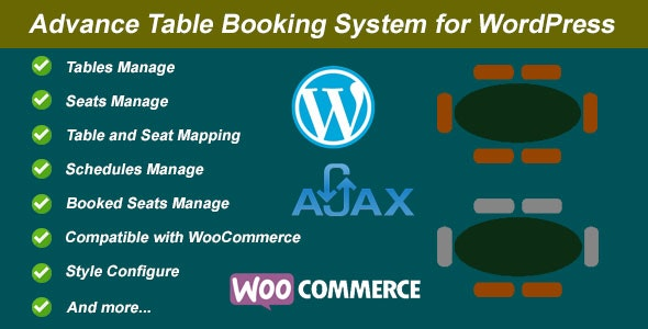 Advance Table Booking for WordPress and WooCommerce - CodeCanyon Item for Sale