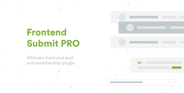 Frontend Submit PRO - WordPress User Frontend Post Plugin
