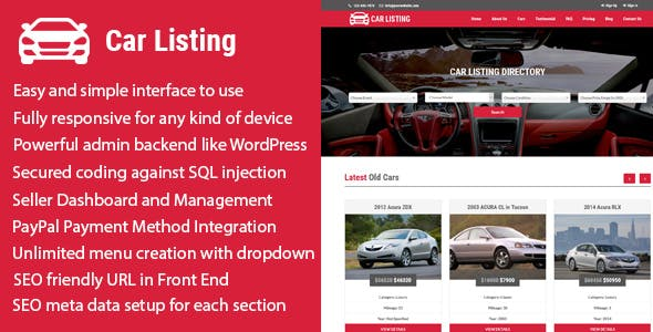 Carlisting - Auto and Car Listing Multi-Vendor Directory CMS
