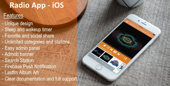 Radio App - iOS - CodeCanyon Item for Sale