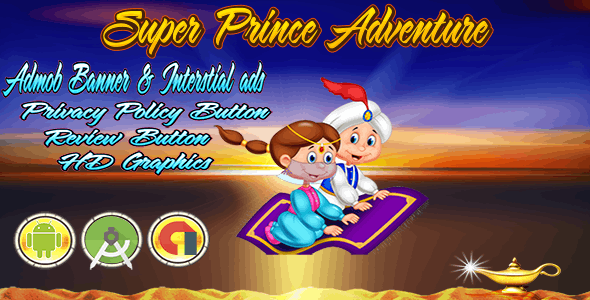 Super Prince Adventure - Admob Banner & Interstitial- Android Studio Project