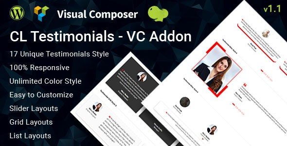 CL Testimonial - Testimonials Add-on for Visual Composer - CodeCanyon Item for Sale