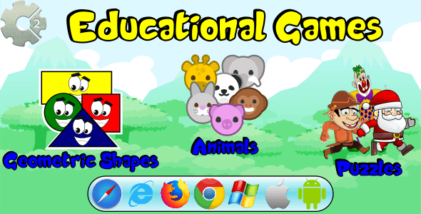 Puzzles and Matching - Educational Games (HTML5 and MOBILE)