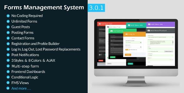 Forms Management System-WordPress Frontend Plugin