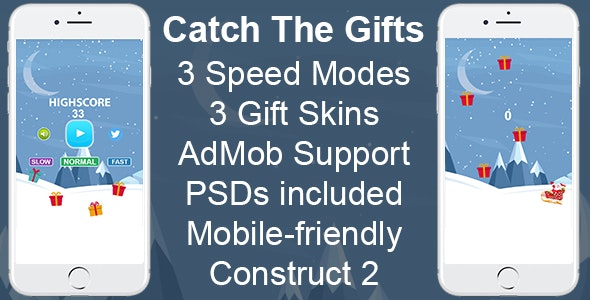 Catch The Gifts - HTML5 Mobile Game - CodeCanyon Item for Sale