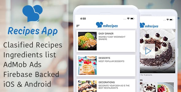 Recipe App - Complete React Native App  for recipes